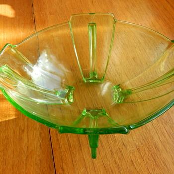 Hermanova Stolzle Winged Bowl. - Glassware