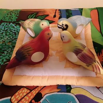 Parrot napkin rings  - Animals