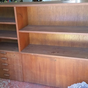 Hutch from late 50's buffet and hutch