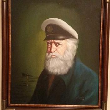 David Pelbam vintage sailor oil painting - Fine Art