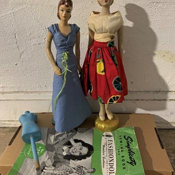 "1940's Simplicity 12-1/2"" ""Fashiondol"" mannequin - Dolls"