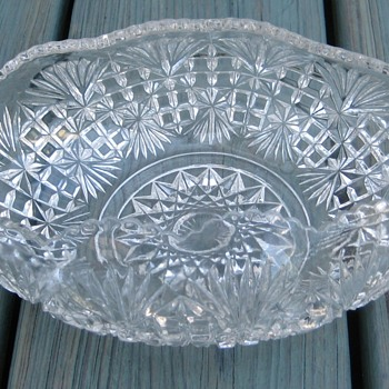 eapg banana boat fan and diamond  - Glassware