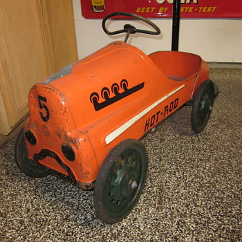 1950's Original Hot Rod Racer Pedal Car  - Model Cars