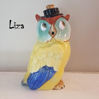 Liza, my Art Deco Owl Decanter - Animals