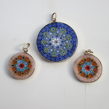 3 Millefiori pendants  for € 1,00 - Costume Jewelry