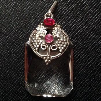 Amy Sandheim Silver Rock Crystal Pendant - Art Nouveau