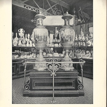 -Part II-World Columbian Exposition 1893, Austria, Liberty and Progress Vases - Books
