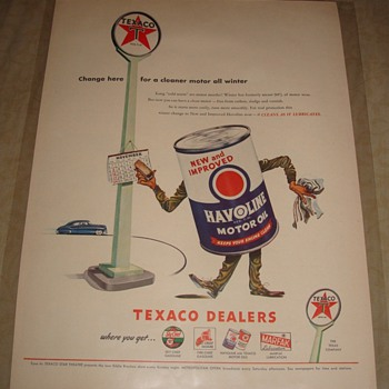 Texaco Havoline Motor Oil Magazine Ad