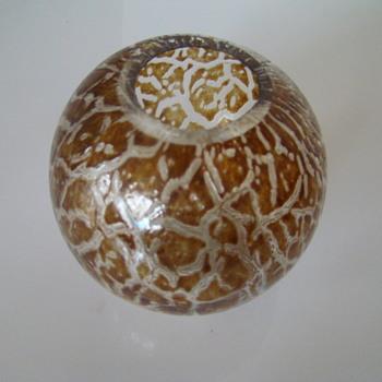 Hirschberg Glashutte ball vase - Glassware