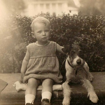1931 - Family Photos - Mom & Her Dog - Photographs