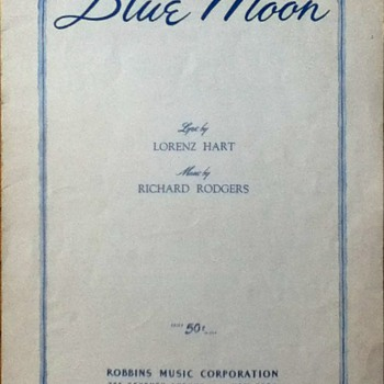 """Blue Moon"" Sheet Music - Paper"