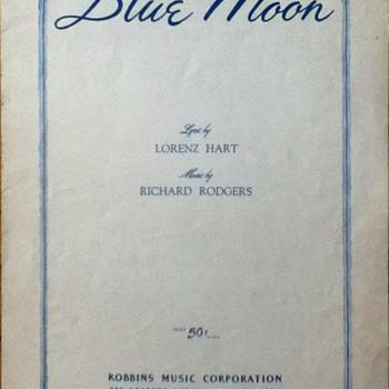 """""""Blue Moon"""" Sheet Music - Paper"""