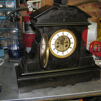 French slate mantle clock C 1850