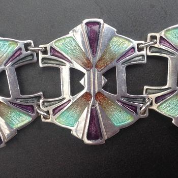 Pat Cheney Silver and Enamel Bracelet - Fine Jewelry