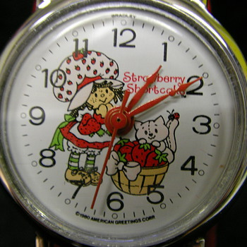 1980 Strawberry Shortcake Wristwatch by Bradley - Wristwatches