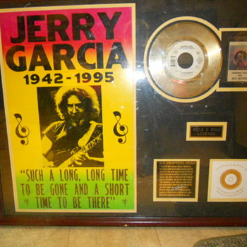 rare garcia collection under glass - Music Memorabilia