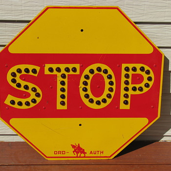 Orchard Place Airfield Stop Sign (Pre-O'Hare Airport) - Signs