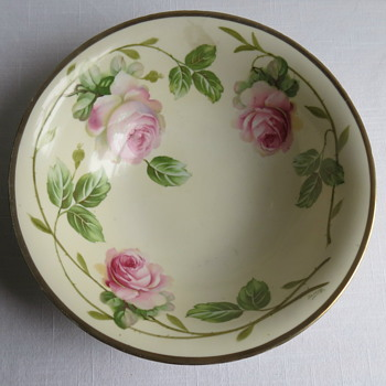 Prussia Handpainted Bowl Signed B-------? - China and Dinnerware