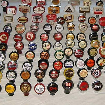 Beer tap knobs - Breweriana