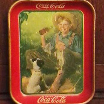 Original 1931 Huck Finn Coca-Cola Serving Tray - Coca-Cola