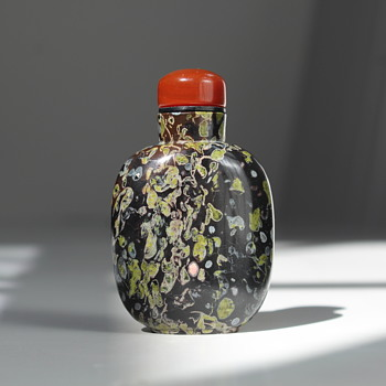 Amygdaloidal Basalt Snuff Bottle - Asian
