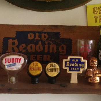Old Reading & Sunshine Tap Handles