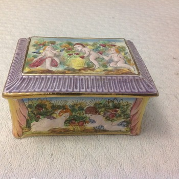 limited edition trinket box angles italy - Pottery