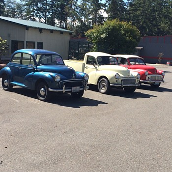 Morris Minor cars in the Pacific Northwest