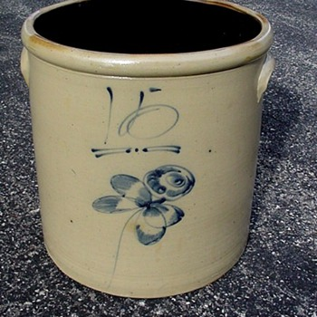 15 gallon red wing butterfly crock - China and Dinnerware