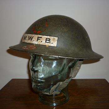 WWII British Fire Brigade steel helmet.