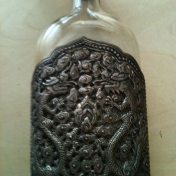 Help with a silver/glass flask I picked up at a garage sale - Bottles