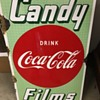 1950's Drink Coca-Cola, Candy, Films Sign