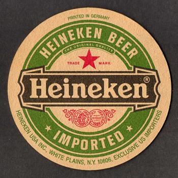 """Heineken"" - Beer Coaster - Breweriana"