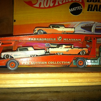 Matchbox Thunderbirds on a Matchbox Auto Carrier - Model Cars