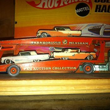 Matchbox Thunderbirds on a Matchbox Auto Carrier