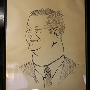 Large Caricature Drawing - old - Fine Art
