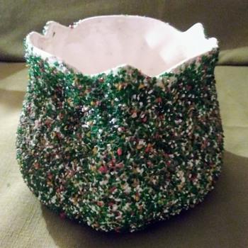 BEADED VASE - Pottery