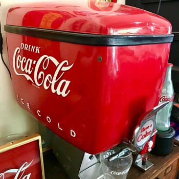 1955 Dole super and improved  Coca Cola fountain dispenser.  - Coca-Cola
