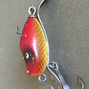 Vintage Wooden River Runt Style Fishing Lure - Fishing