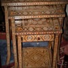 Vintage Handcrafted Moorish Nest of Tables with Inlaid Motifs