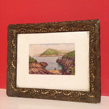 A lovely little painting of the Coast. I can't work out the Signature?  - Fine Art