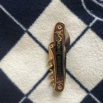 Adolphus Busch pocket knife - Breweriana