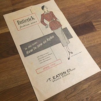 The T. EATON Co. Limited, Branch Store Butterick Fashion News