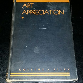 Awesome 1933 Art Appreciation book bronx school with signature - Books
