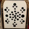 Antique Black Button Framed Collection
