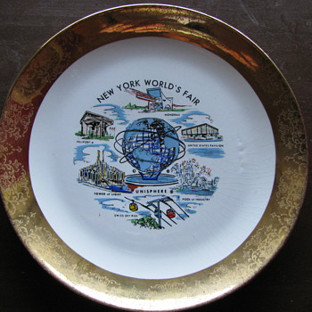 1961 World Fair Plate - Advertising