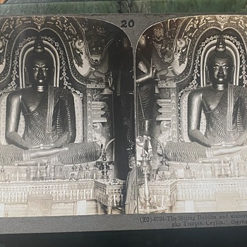 Stereoscope Slides from Ceylon - 1905 - Photographs