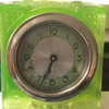 Art Deco Uranium Glass Clock Made in France. Maker unknown to me.