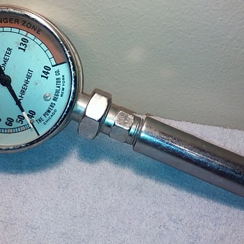 """old POWERS DIAL THERMOMETER, maybe from a real """"bath-house""""? - Tools and Hardware"""