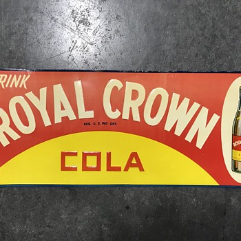 Royal Crown coke sign 1959  - Signs